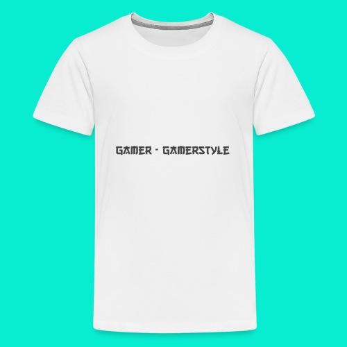 GAMERSTYLE | NICESCHRIFT Schwarz - Teenager Premium T-Shirt
