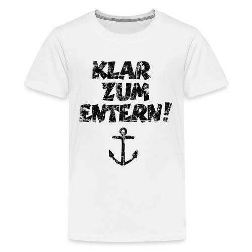 Klar zum Entern Segel Segeln (Vintage/Schwarz) - Teenager Premium T-Shirt
