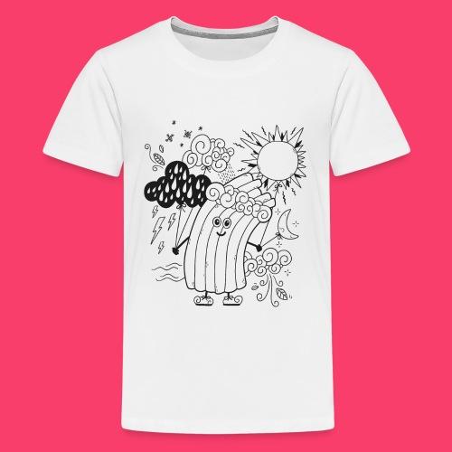Rudi Regenbogen Wetter-Motiv zum Ausmalen - Teenager Premium T-Shirt