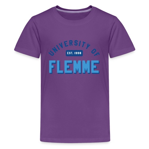 UniversityOfFlemme2 png - T-shirt Premium Ado