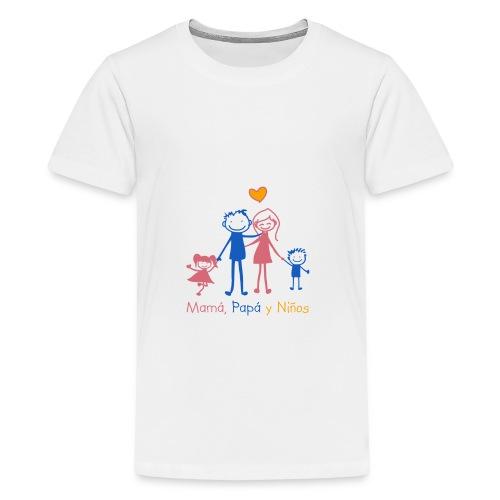 Mamá, Papá y Niños - Camiseta premium adolescente