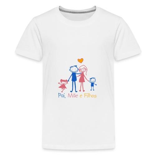 Pai Mãe e Filhos - Teenage Premium T-Shirt
