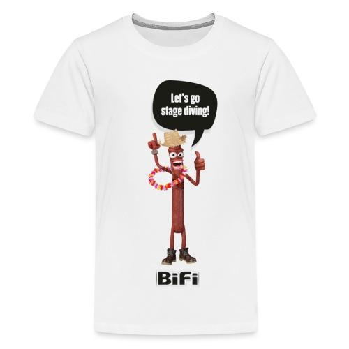 BiFi Strohhut auf Hell - Teenage Premium T-Shirt