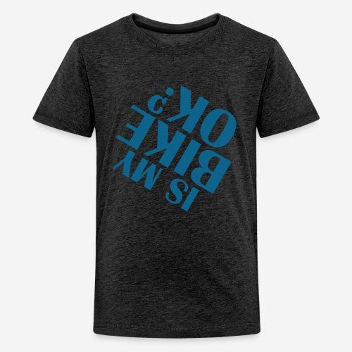 Fahrradunfall fallen - Teenager Premium T-Shirt
