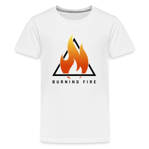 BURNING FIRE Logo - Teenager premium T-shirt