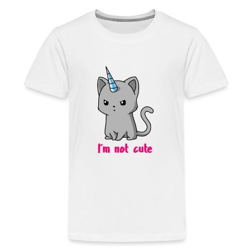 Einhorn Katze Ich bin nicht süß - Teenager Premium T-Shirt