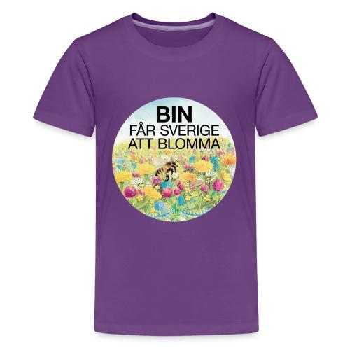 Bin får Sverige att blomma - Premium-T-shirt tonåring