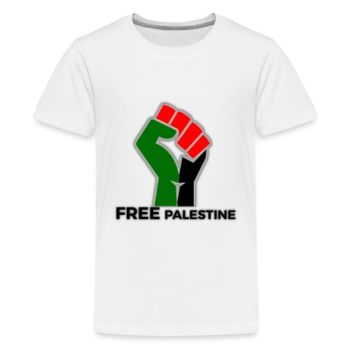 FreePalestine Black - Teenage Premium T-Shirt