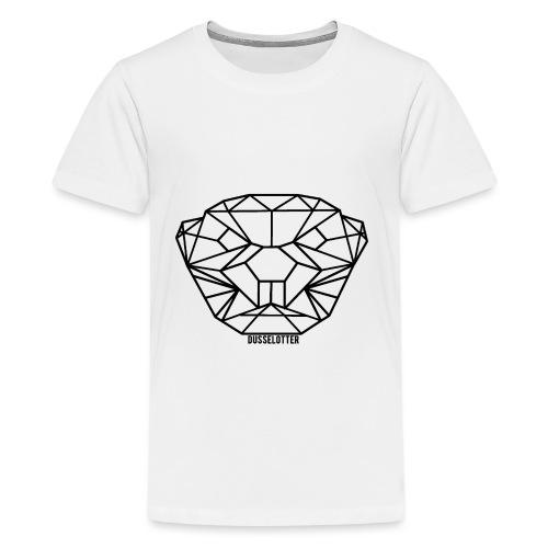 DusselOtter Logo schwarz - Teenage Premium T-Shirt
