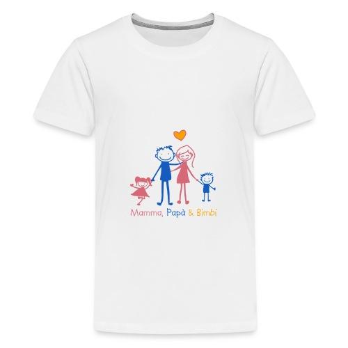 mamma papa bimbi - Maglietta Premium per ragazzi