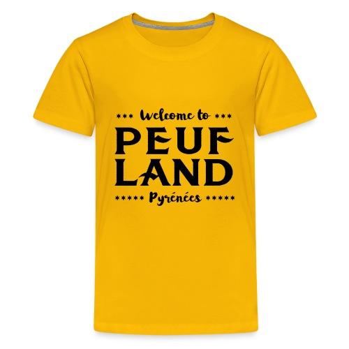 Peuf Land Pyrénées - Black - T-shirt Premium Ado