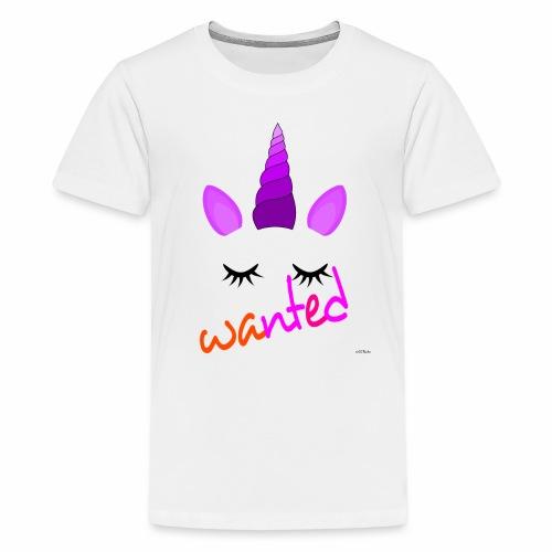 Wanted unicorn - ODIFacto design - Maglietta Premium per ragazzi