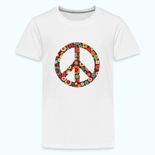 Flowers children - peace - Teenage Premium T-Shirt