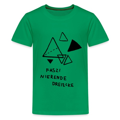 FASZINIERENDE DREIECKE T-Shirt für Geometrie-Fans - Teenager Premium T-Shirt