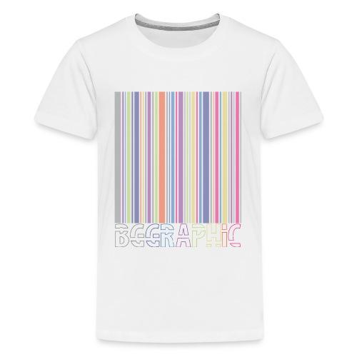 Bar code - Koszulka młodzieżowa Premium