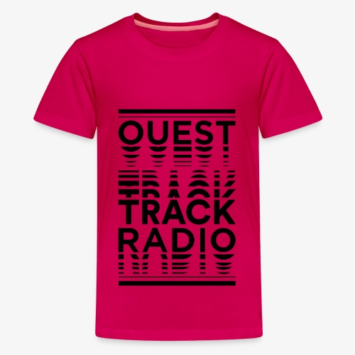 Logo Vertical Grand Noir - T-shirt Premium Ado