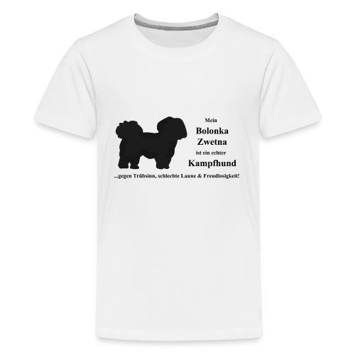 Bolonka Zwetna mit schwarzer Schrift - Teenager Premium T-Shirt