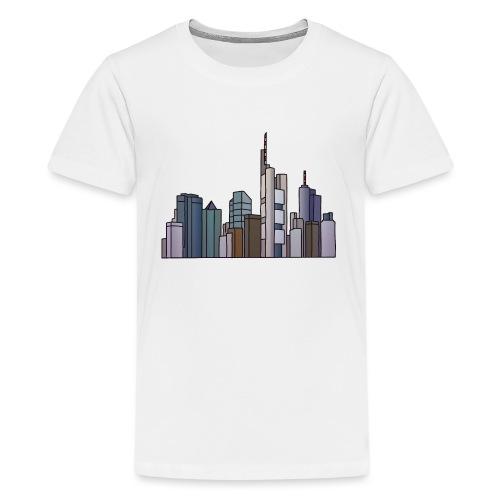 Frankfurt Skyline c - Teenager Premium T-Shirt