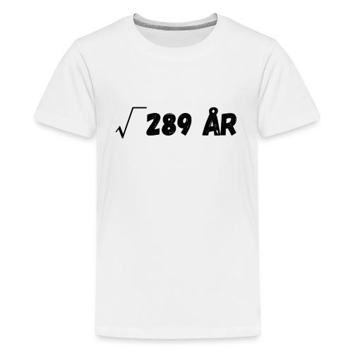 Motiv til 17-åring - Premium T-skjorte for tenåringer
