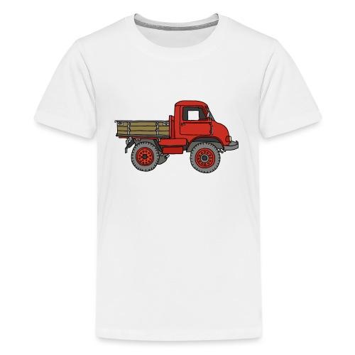 Roter Lastwagen, LKW, Laster - Teenager Premium T-Shirt