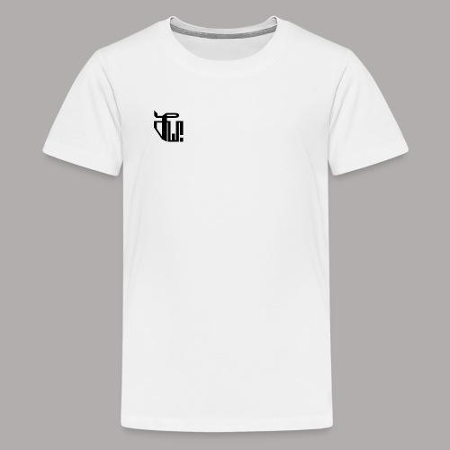 Zirkel, schwarz (vorne) Zirkel, weiss (hinten) - Teenager Premium T-Shirt