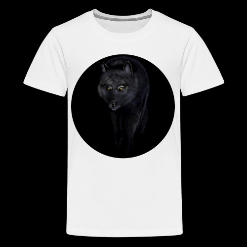 Black Wolf - Teenage Premium T-Shirt