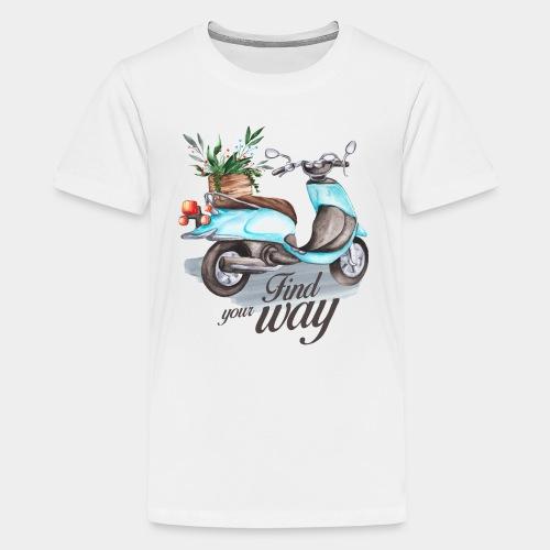 trouvez votre chemin dans la vie - T-shirt Premium Ado