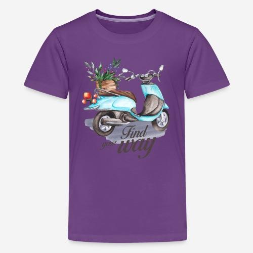 Finde deinen Weg im Leben - Teenager Premium T-Shirt