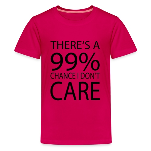 Ist mir egal lustiges Design Sarkasmus - Teenager Premium T-Shirt