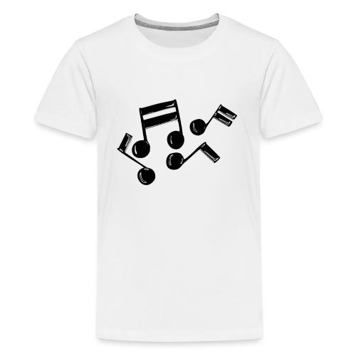 Musik Symbol Noten Musiker Musikerin spielen - Teenager Premium T-Shirt