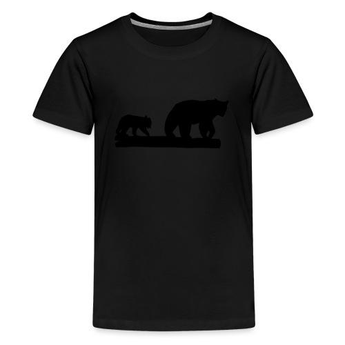 Bären Bär Grizzly Wildnis Natur Raubtier - Teenager Premium T-Shirt