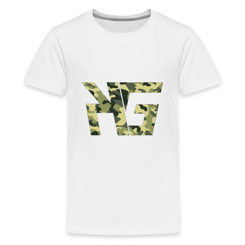 KG Forest Camo - Teenage Premium T-Shirt