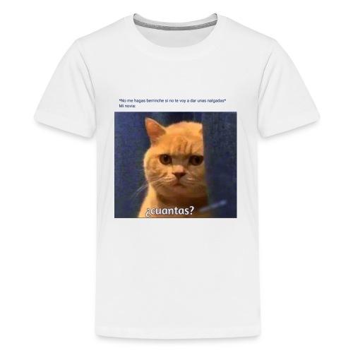 Cat nalgadas - Camiseta premium adolescente