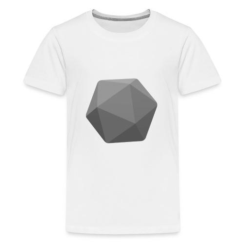 Grey d20 - Teenage Premium T-Shirt