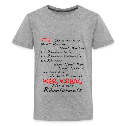 Kosement 974 ker kreol - T-shirt Premium Ado