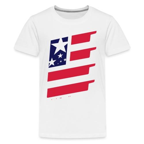 FlagUSA-URBAN - Camiseta premium adolescente