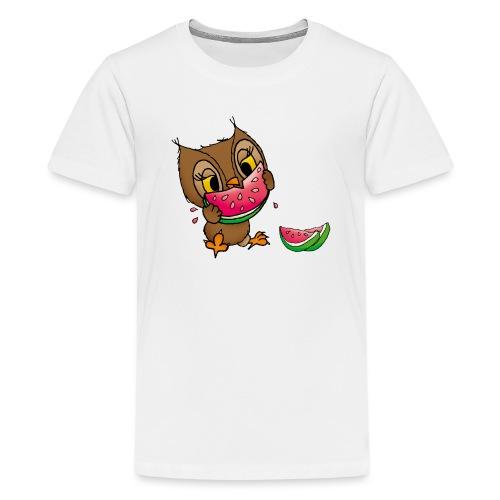 Eule Wassermelone - Teenager Premium T-Shirt