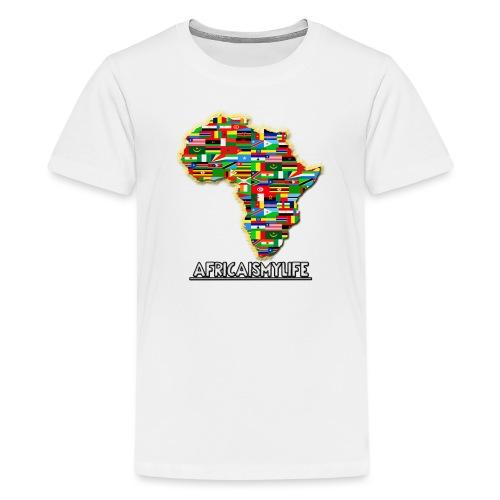 Africaismylife Logo - Teenage Premium T-Shirt