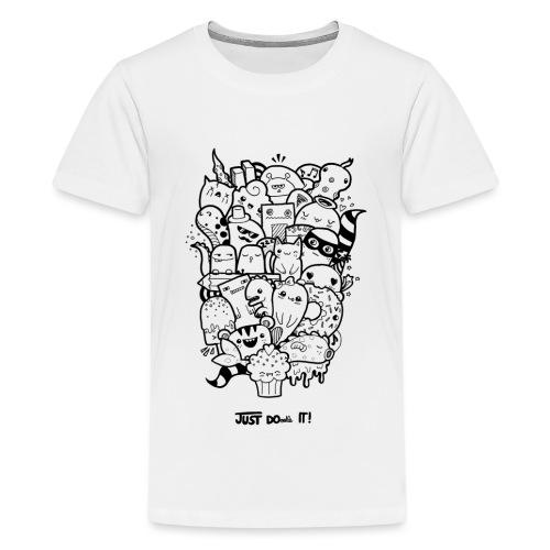 Just Doodle it Black - Teenager Premium T-Shirt