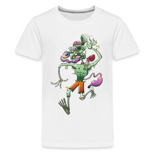 Zombie in Trouble Falling Apart - Teenage Premium T-Shirt