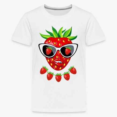Süße Erdbeere Kussmund Sonnenbrille 23 - Teenager Premium T-Shirt