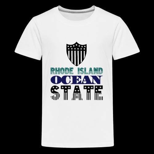 rhode island ocean state - Teenage Premium T-Shirt