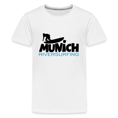 Munich Riversurfing München Surfer - Teenager Premium T-Shirt
