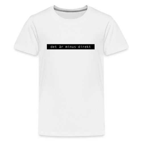 Minus - Svart - Premium-T-shirt tonåring