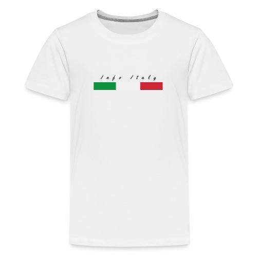 Info Italy Design - Maglietta Premium per ragazzi