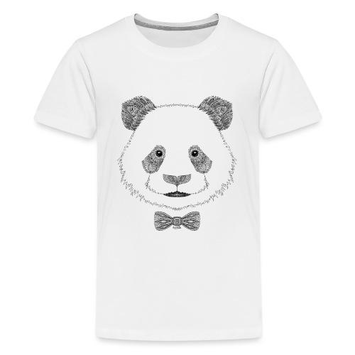 Panda tête noeud papillon - T-shirt Premium Ado