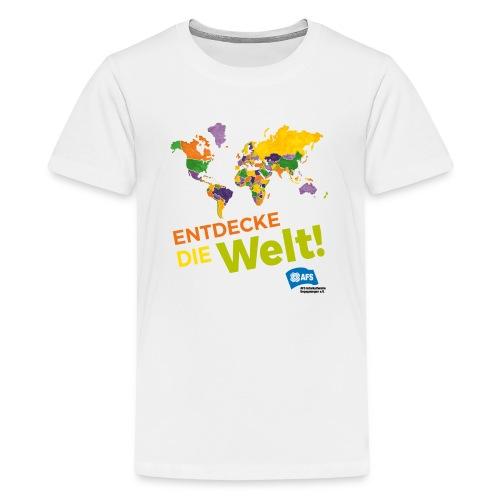 Entdecke die Vielfalt der Welt mit AFS - Teenager Premium T-Shirt