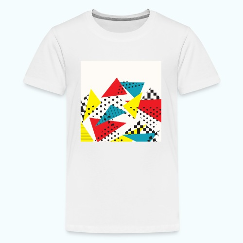 Abstract vintage collage - Teenage Premium T-Shirt