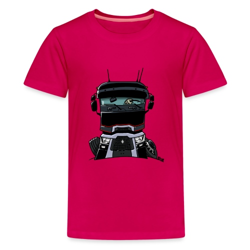 0813 R truck zwart - Teenager Premium T-shirt
