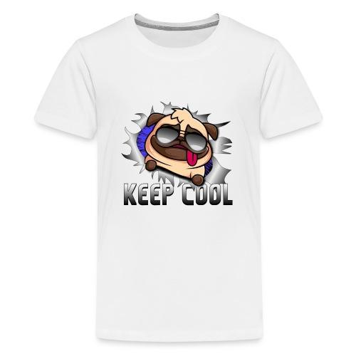 Keep Cool Hund Geschenk - Teenager Premium T-Shirt